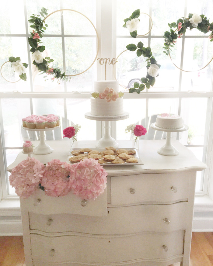 Floral 1st Birthday Party via Kara's Party Ideas | KarasPartyIdeas.com (32)