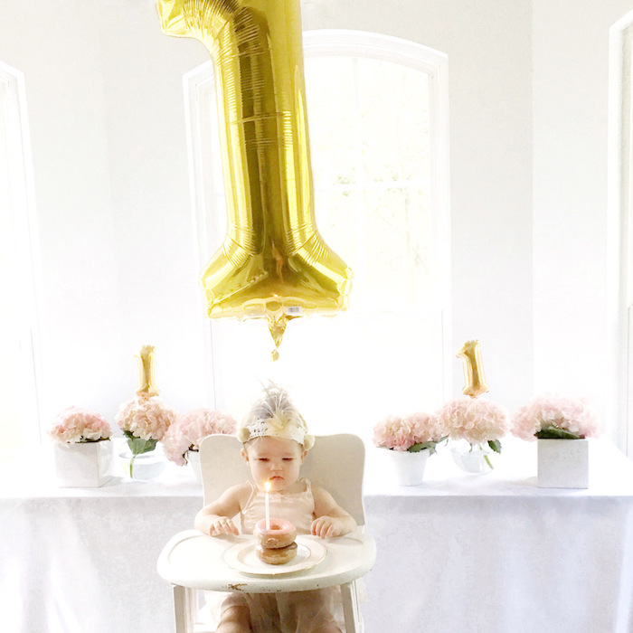 Floral 1st Birthday Party via Kara's Party Ideas | KarasPartyIdeas.com (31)