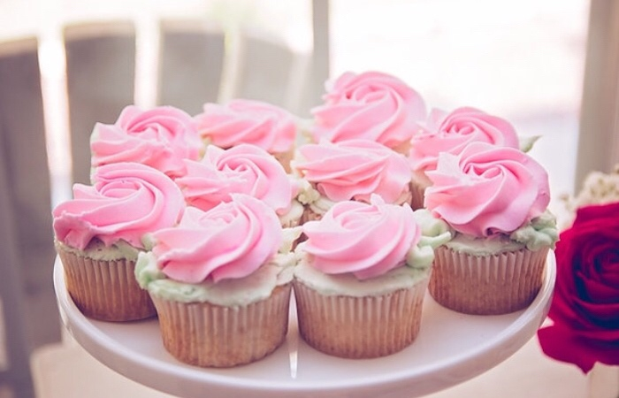 Cupcakes from a Floral 1st Birthday Party via Kara's Party Ideas | KarasPartyIdeas.com (26)