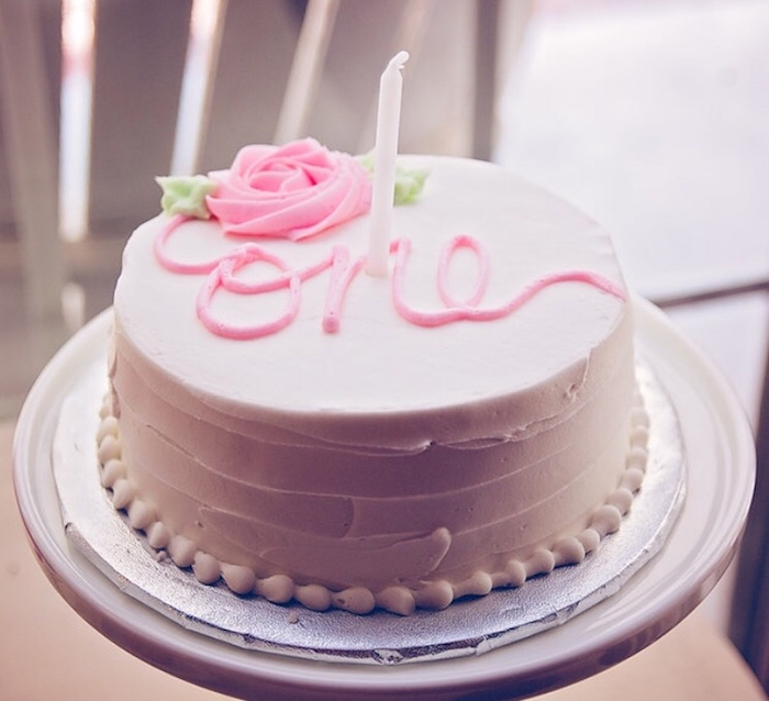 Smash cake from a Floral 1st Birthday Party via Kara's Party Ideas | KarasPartyIdeas.com (23)