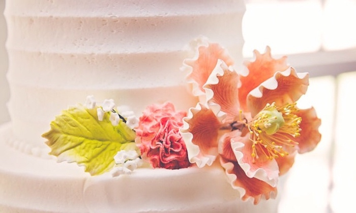 Floral cake detail from a Floral 1st Birthday Party via Kara's Party Ideas | KarasPartyIdeas.com (17)