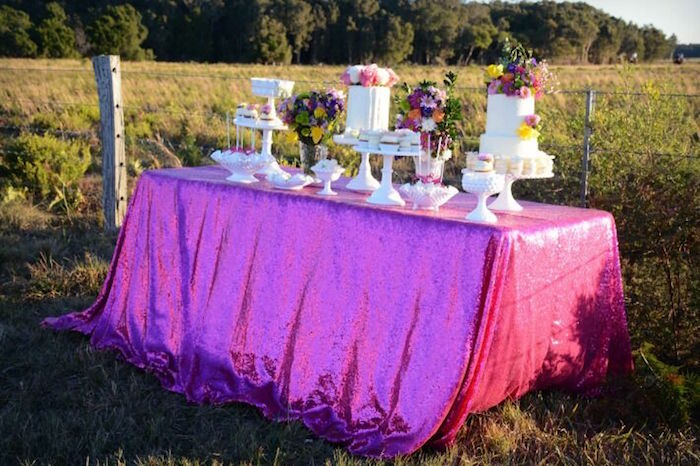 Dessert table from a Floral Bohemian Sunset Party on Kara's Party Ideas | KarasPartyIdeas.com (24)