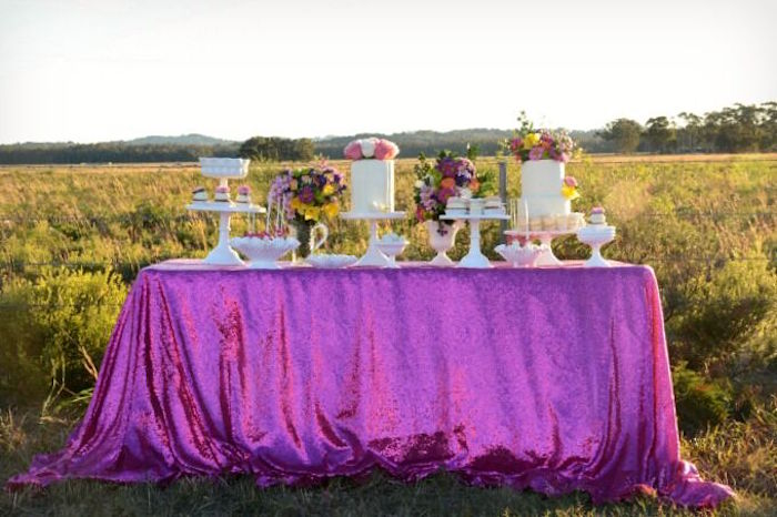 Dessert table from a Floral Bohemian Sunset Party on Kara's Party Ideas | KarasPartyIdeas.com (19)