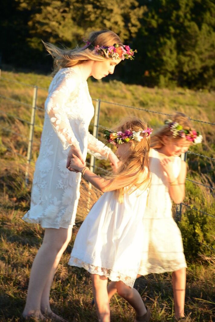 Dancing beauties from a Floral Bohemian Sunset Party on Kara's Party Ideas | KarasPartyIdeas.com (17)