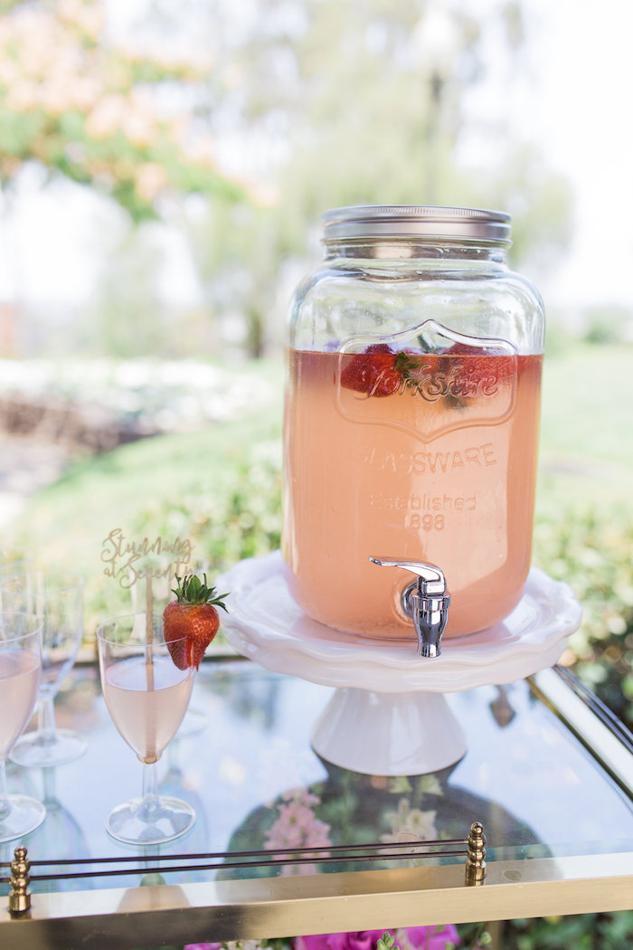 Beverage dispenser from a Glamorous 70th Birthday Party on Kara's Party Ideas | KarasPartyIdeas.com (36)