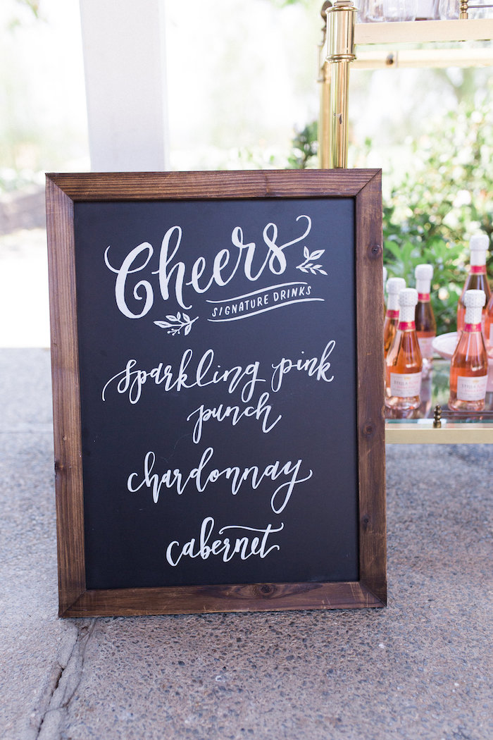 Chalkboard from a Glamorous 70th Birthday Party on Kara's Party Ideas | KarasPartyIdeas.com (34)
