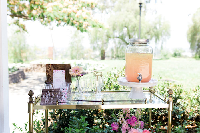 Beverage cart from a Glamorous 70th Birthday Party on Kara's Party Ideas | KarasPartyIdeas.com (45)