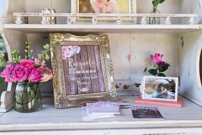 Glamorous 70th Birthday Party on Kara's Party Ideas   KarasPartyIdeas.com (24)