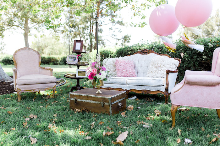 Lounge area from a Glamorous 70th Birthday Party on Kara's Party Ideas | KarasPartyIdeas.com (18)