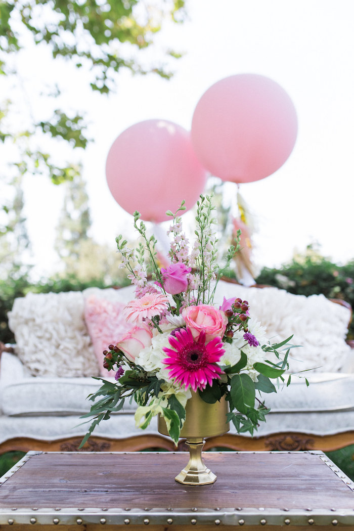 Blooms From A Glamorous 70th Birthday Party On Karas Ideas