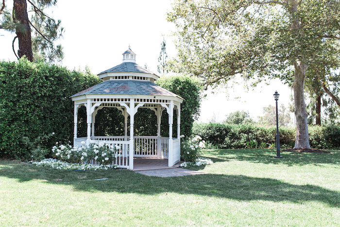 Gazebo from a Glamorous 70th Birthday Party on Kara's Party Ideas | KarasPartyIdeas.com (13)