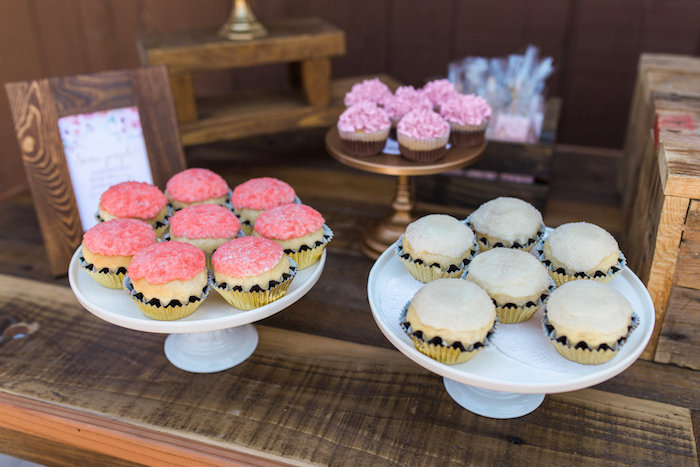 Cupcakes from a Glamorous 70th Birthday Party on Kara's Party Ideas | KarasPartyIdeas.com (12)