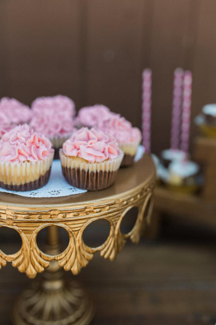 Cupcakes from a Glamorous 70th Birthday Party on Kara's Party Ideas   KarasPartyIdeas.com (11)