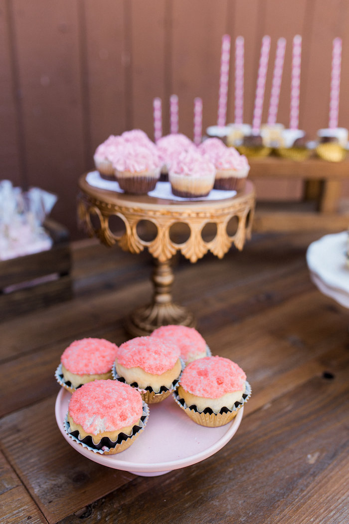 Cupcakes from a Glamorous 70th Birthday Party on Kara's Party Ideas | KarasPartyIdeas.com (10)