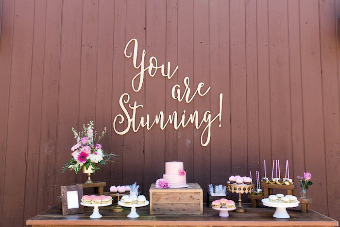 Dessert tablescape from a Glamorous 70th Birthday Party on Kara's Party Ideas | KarasPartyIdeas.com (8)