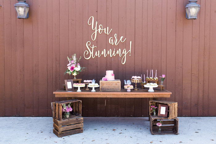 Dessert table from a Glamorous 70th Birthday Party on Kara's Party Ideas | KarasPartyIdeas.com (7)