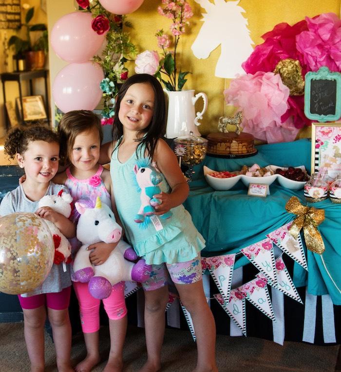 Glamorous Unicorn Birthday Party via Kara's Party Ideas KarasPartyIdeas.com (15)