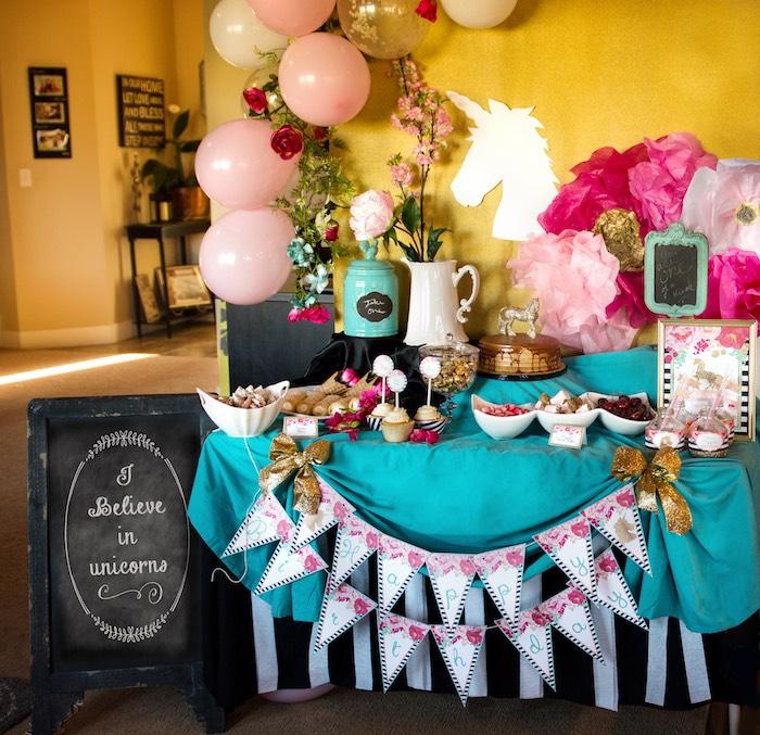 Glamorous Unicorn Birthday Party via Kara's Party Ideas KarasPartyIdeas.com (27)