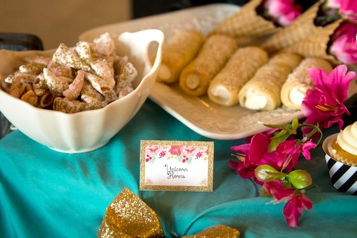 Sweets + treats from a Glamorous Unicorn Birthday Party via Kara's Party Ideas KarasPartyIdeas.com (22)