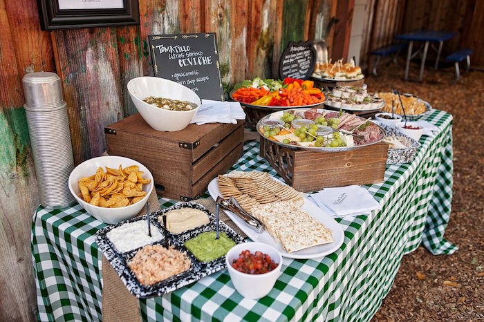 Food Table From A Glamping Glamorous Camping Party Via Karas Ideas