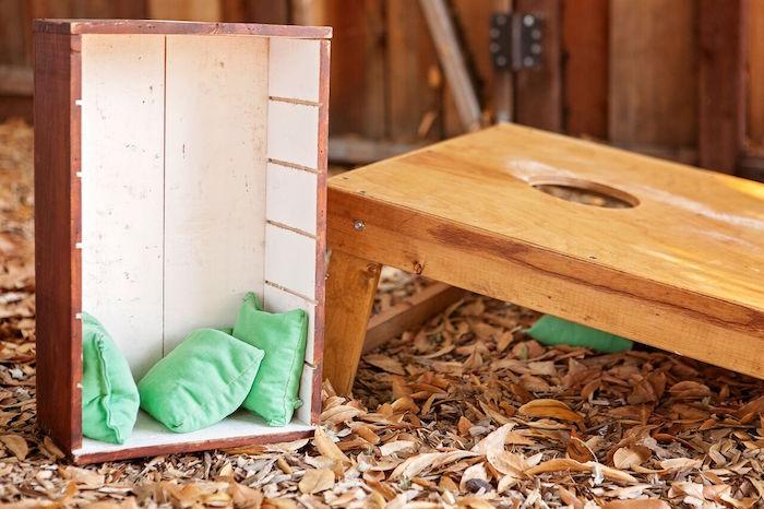 "Bean bag toss game from a ""Glamping"" Glamorous Camping Party via Kara's Party Ideas | KarasPartyIdeas.com (23)"