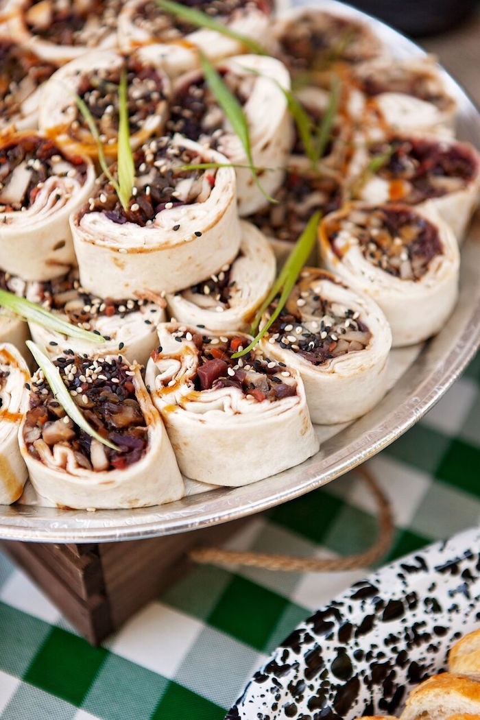 Tortilla Rolls From A Glamping Glamorous Camping Party Via Karas Ideas