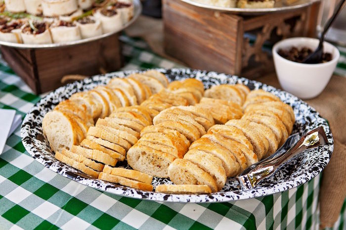 """Bread slices from a """"Glamping"""" Glamorous Camping Party via Kara's Party Ideas 