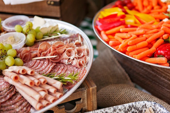 Meat Plate From A Glamping Glamorous Camping Party Via Karas Ideas