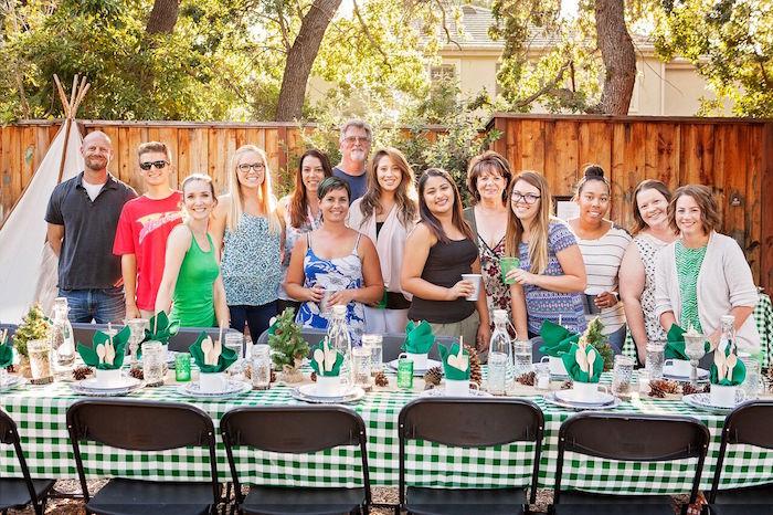 """Glamping"" Glamorous Camping Party via Kara's Party Ideas | KarasPartyIdeas.com (15)"
