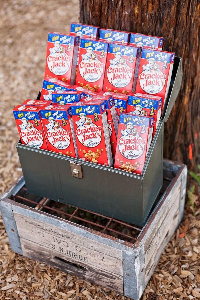 "Cracker Jacks from a ""Glamping"" Glamorous Camping Party via Kara's Party Ideas | KarasPartyIdeas.com (14)"
