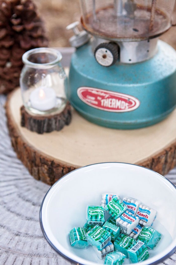 """Party details from a """"Glamping"""" Glamorous Camping Party via Kara's Party Ideas 