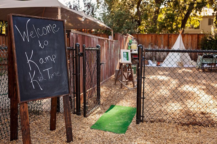 "Party entrance to a ""Glamping"" Glamorous Camping Party via Kara's Party Ideas | KarasPartyIdeas.com (52)"