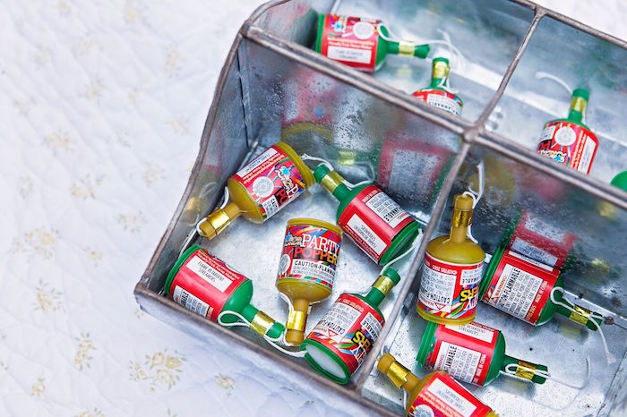 """Poppers from a """"Glamping"""" Glamorous Camping Party via Kara's Party Ideas 