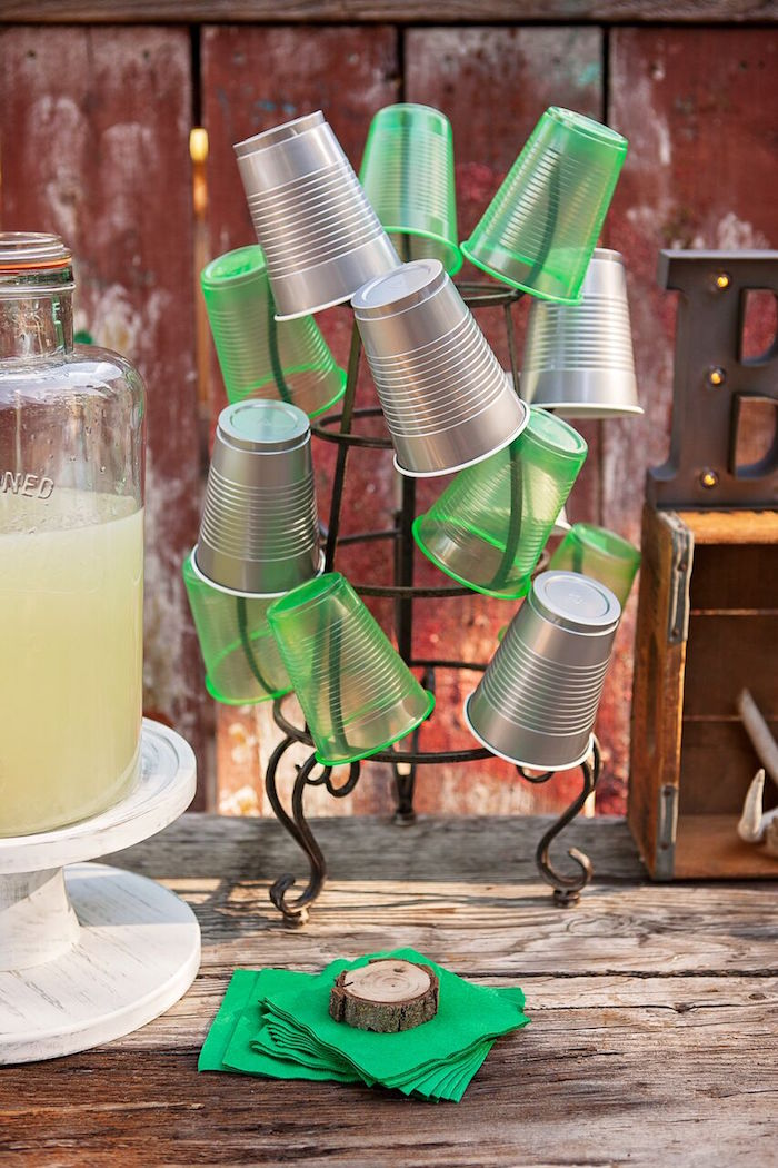 """Cups from a """"Glamping"""" Glamorous Camping Party via Kara's Party Ideas 