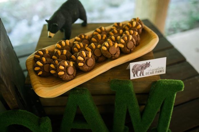 Bear claw cookies from a Grizzly Bear Man Cub 1st Birthday Party on Kara's Party Ideas | KarasPartyIdeas.com (42)
