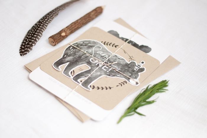 Invitation from a Grizzly Bear Man Cub 1st Birthday Party on Kara's Party Ideas | KarasPartyIdeas.com (51)