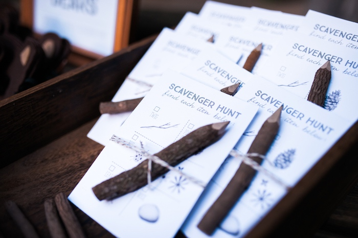 Scavenger hunt pad and pencil from a Grizzly Bear Man Cub 1st Birthday Party on Kara's Party Ideas | KarasPartyIdeas.com (18)