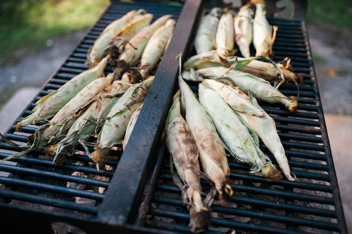 Grilled corn on the cob from a Grizzly Bear Man Cub 1st Birthday Party on Kara's Party Ideas | KarasPartyIdeas.com (11)