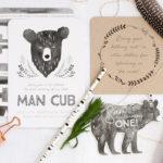 Grizzly Bear Man Cub 1st Birthday Party on Kara's Party Ideas | KarasPartyIdeas.com (2)