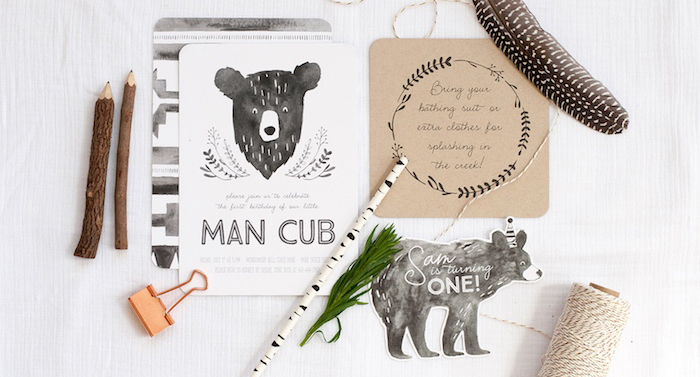 Grizzly Bear Man Cub 1st Birthday Party on Kara's Party Ideas | KarasPartyIdeas.com (2)