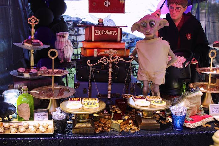 Harry Potter Dessert Table from a Harry Potter Birthday Party via Kara's Party Ideas KarasPartyIdeas.com (38)