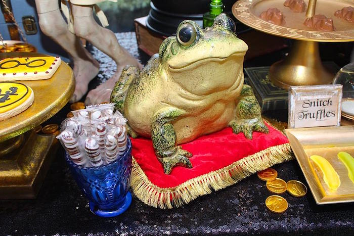 Frog from a Harry Potter Birthday Party via Kara's Party Ideas KarasPartyIdeas.com (32)