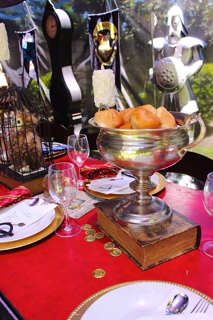 Table details from a Harry Potter Birthday Party via Kara's Party Ideas KarasPartyIdeas.com (29)