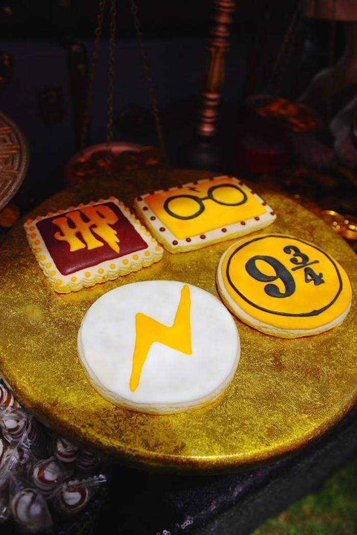 Harry Potter cookies from a Harry Potter Birthday Party via Kara's Party Ideas KarasPartyIdeas.com (48)