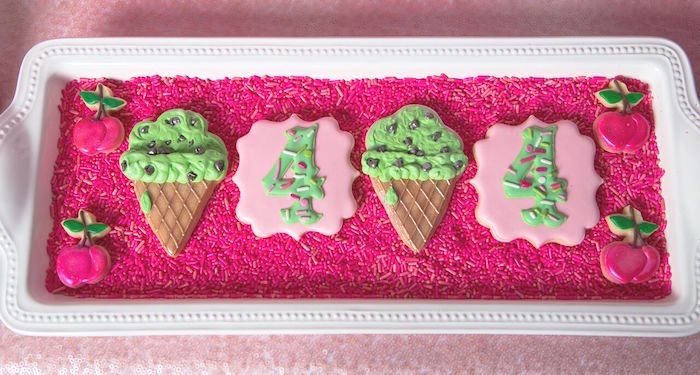 Cute cookies from an Ice Cream Parlour Birthday Party via Kara's Party Ideas KarasPartyIdeas.com (39)
