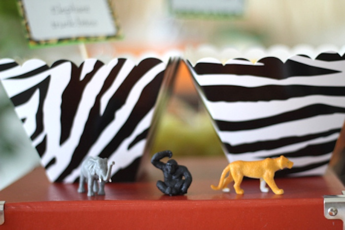 Jungle animals from a Jungle Safari Birthday Party via Kara's Party Ideas | KarasPartyIdeas.com (23)