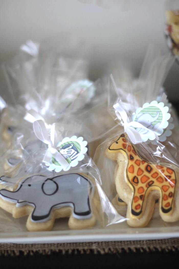 Safari animal cookies from a Jungle Safari Birthday Party via Kara's Party Ideas | KarasPartyIdeas.com (18)