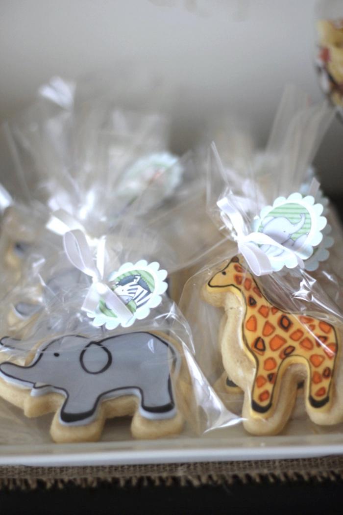 Safari animal cookies from a Jungle Safari Birthday Party via Kara's Party Ideas | KarasPartyIdeas.com (18)