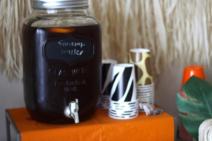 Drink station from a Jungle Safari Birthday Party via Kara's Party Ideas | KarasPartyIdeas.com (10)
