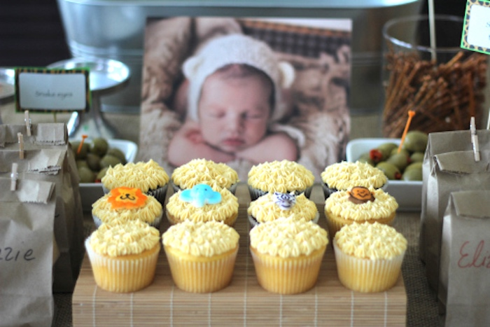 Cupcakes from a Jungle Safari Birthday Party via Kara's Party Ideas | KarasPartyIdeas.com (26)